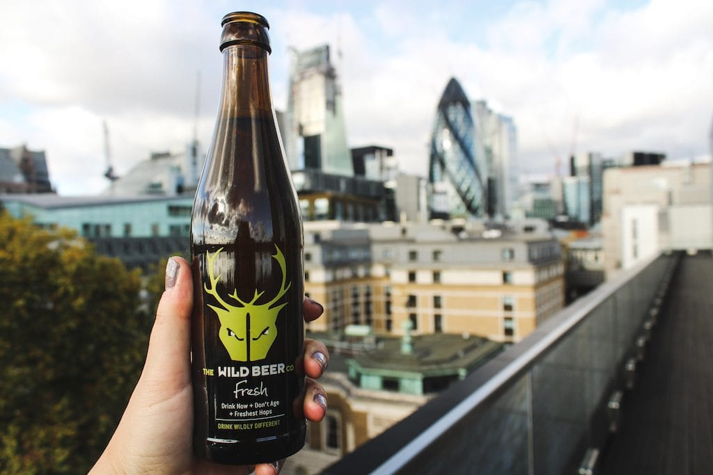 Wild beer craft beer at citizenM Tower of London hotel