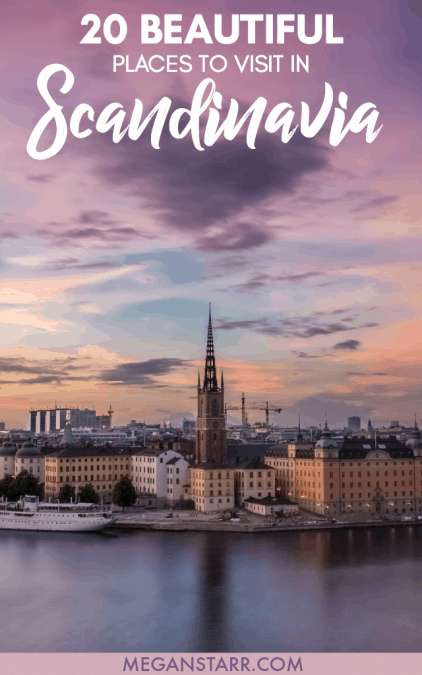 Twenty bloggers name their favorite places to visit in Scandinavia and the Nordics that they think you should travel to as soon as you can! Click the pin to see which cities they picked!