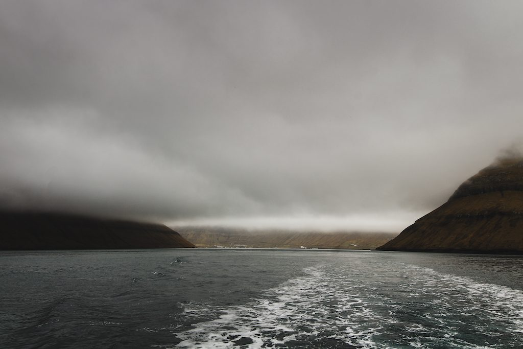 ferry from klaksvik to kalsoy in the faroe islands