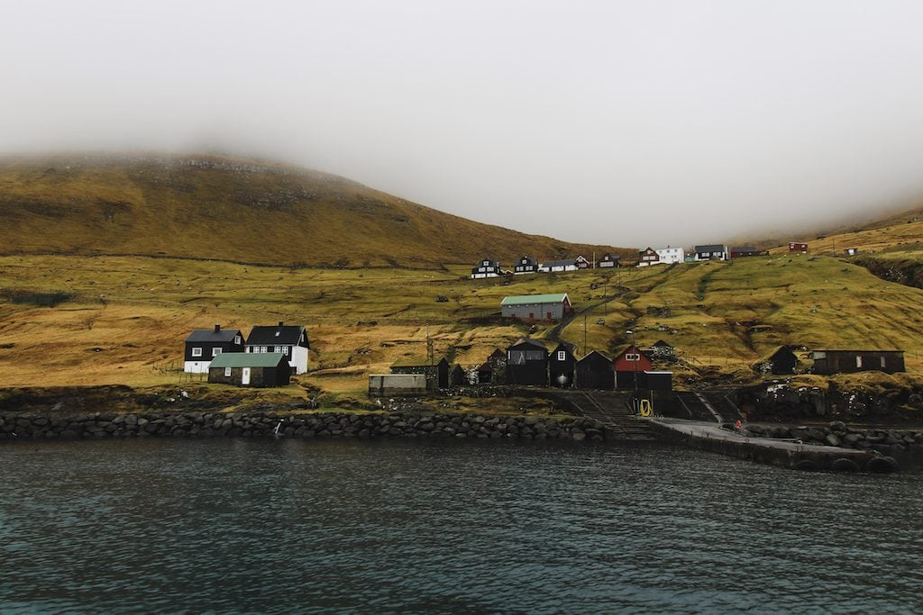 kalsoy in the faroe islands harbor
