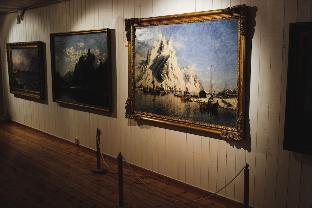 galleri lofotens hus art and photography museum in henningsvær norway in the lofoten islands