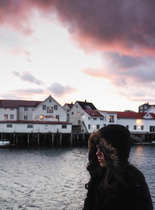 me in a helly hansen parka in henningsvær norway in the lofoten islands