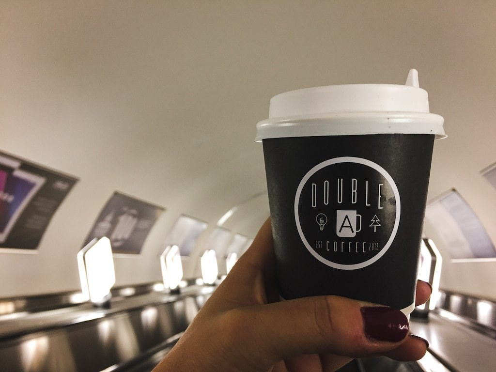 Double A Coffee in almaty, kazakhstan in the zhibek zholy metro station best coffee in almaty