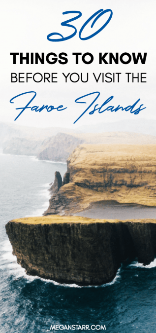 This is the year to travel to the Faroe Islands! Everyone is looking to these islands in the North Atlantic for an adventurous and unusual vacation and to check out some of the most beautiful spots on the planet. This post will inform you about 30 useful things to know before traveling to the Faroe Islands. Click to read more! #faroeislands #traveltips #torshavn