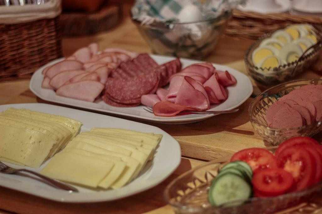 breakfast at Isokenkäisten Klubi in kuusamo, finland in finnish lapland