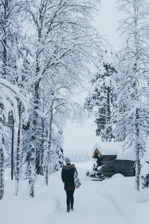 silvia at heartmybackpack at Isokenkäisten Klubi in kuusamo, finland in finnish lapland