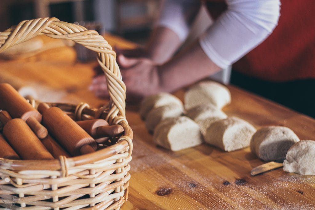 baking bread at pohjolan pirtti in kuusamo lapland finland