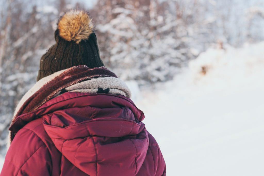 vanessa from snow in tromsø at pohjolan pirtti in lapland finland kuusamo