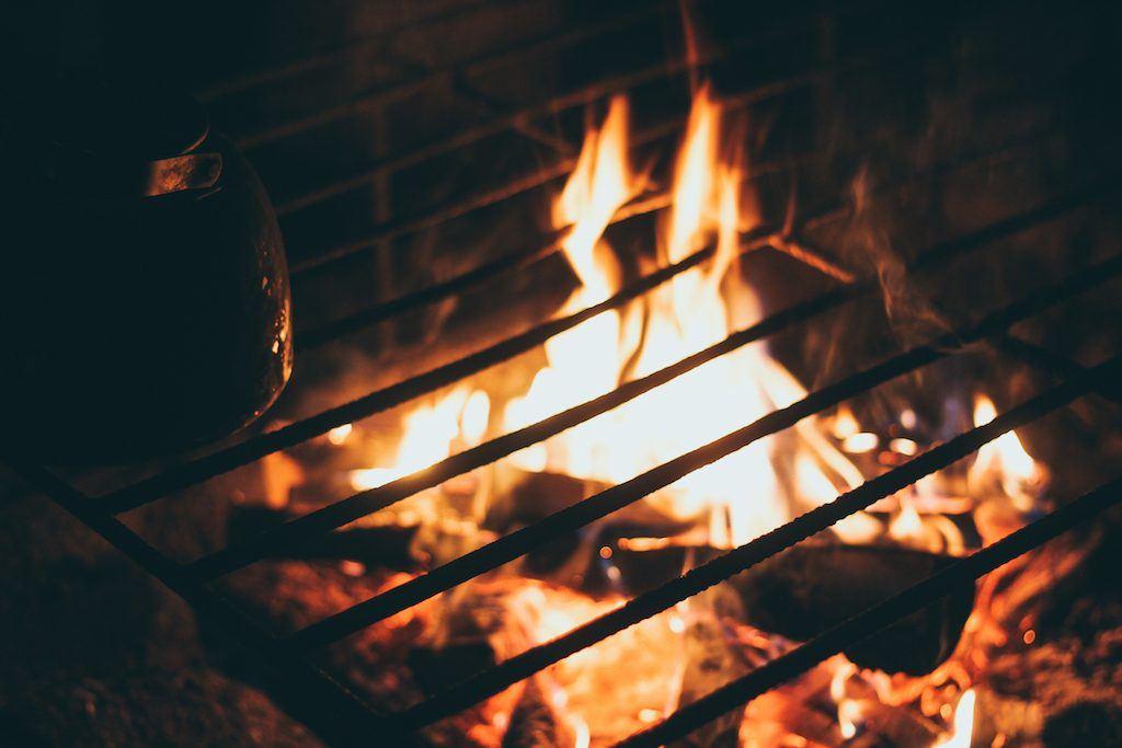 fire at at Palosaari in ruka and kuusamo finland reindeer farm