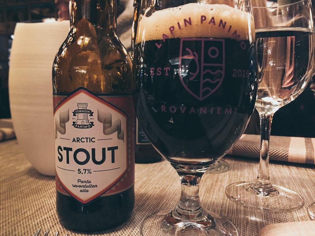arctic stout beer from finland lapland at kuksa in ruka kuusamo