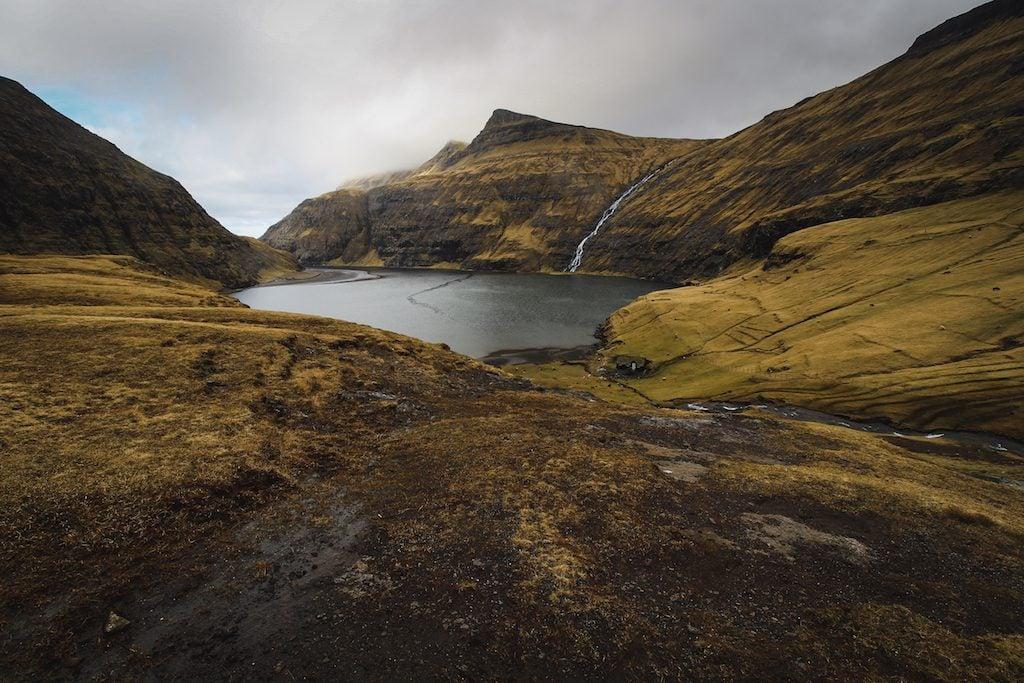 saksun faroe islands moody in march