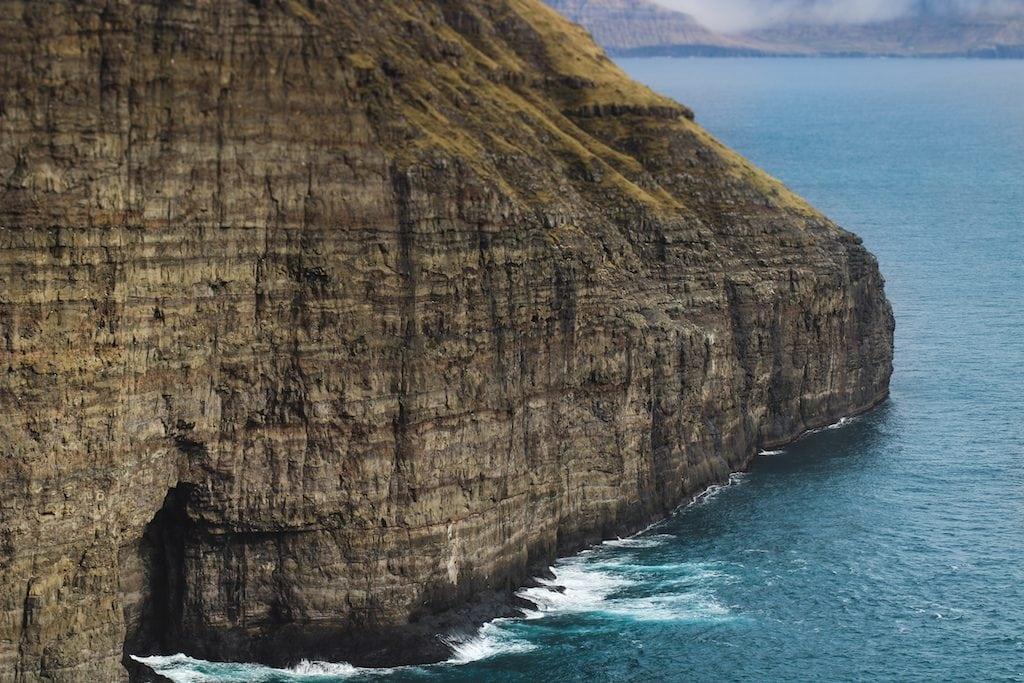 water of atlantic ocean from faroe islands blue