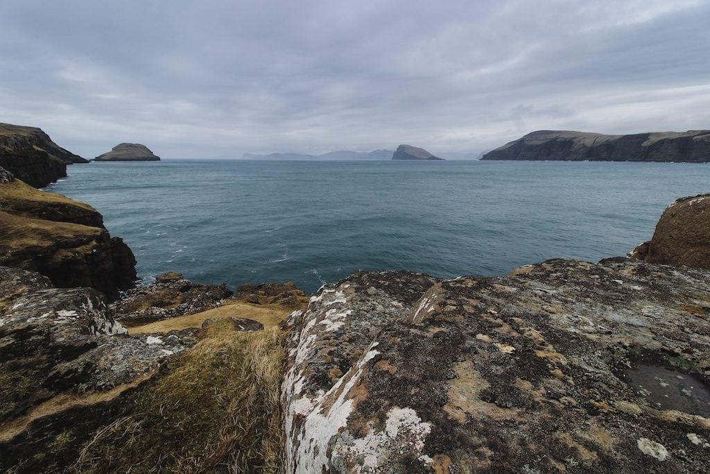 sandoy, faroe islands blue water atlantic ocean
