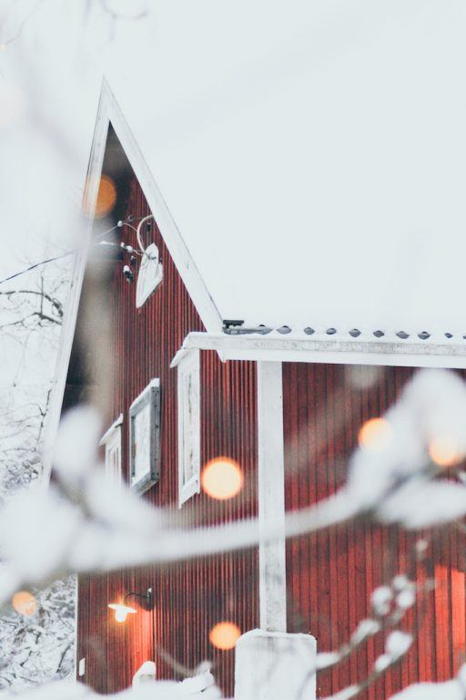 Nuuksio National Park: The Most Beautiful Winter Day Trip From Helsinki red house in forest