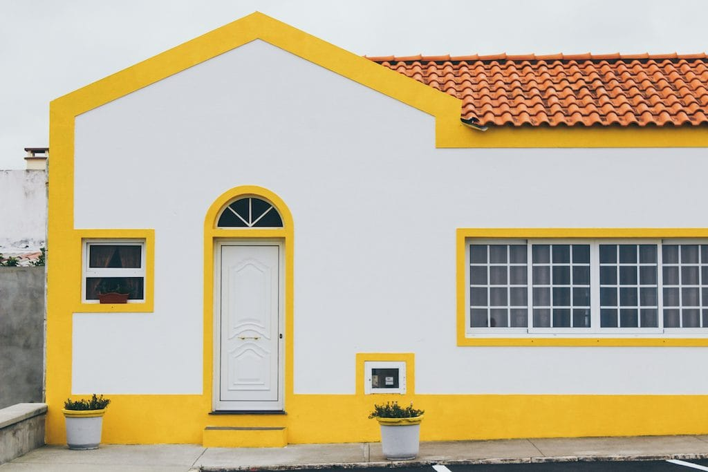 colorful home in sao miguel, azores