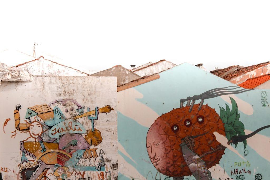 street art ponta delgada on sao miguel azores