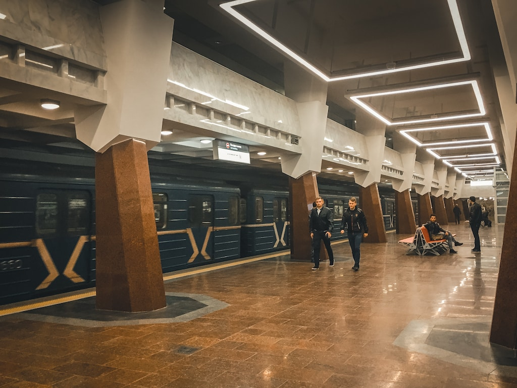 Peremoha metro station in kharkiv, ukraine