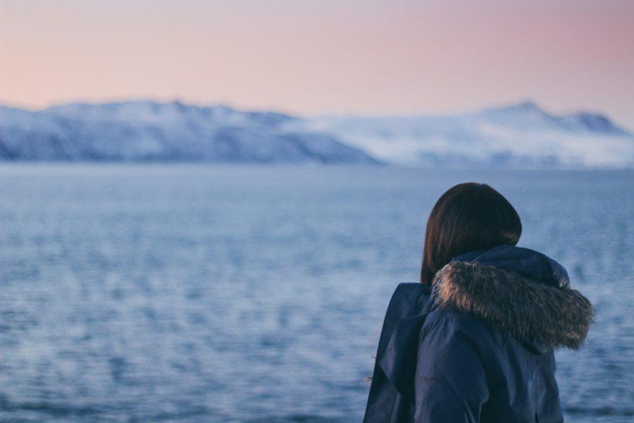 Hurtigruten cruise through Norway fjords from Svolvær in Lofoten Islands to Tromsø Norway