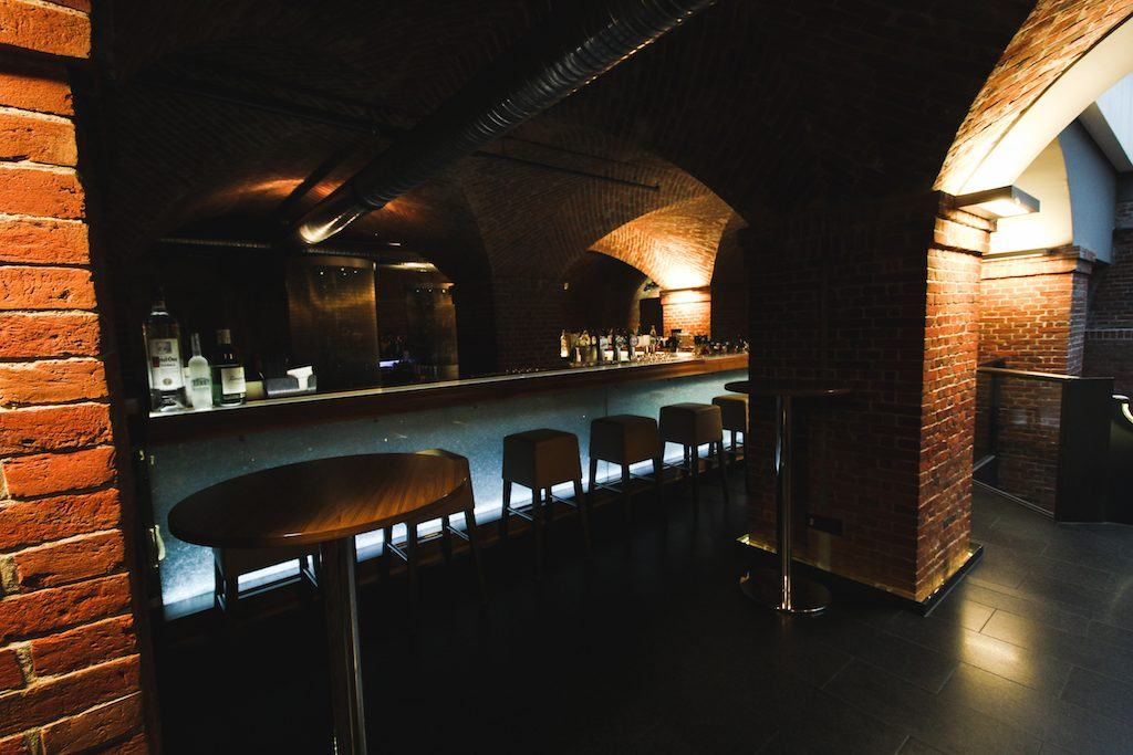 cave bar at Mövenpick Hotel in Hamburg Germany in an old water tower in a park