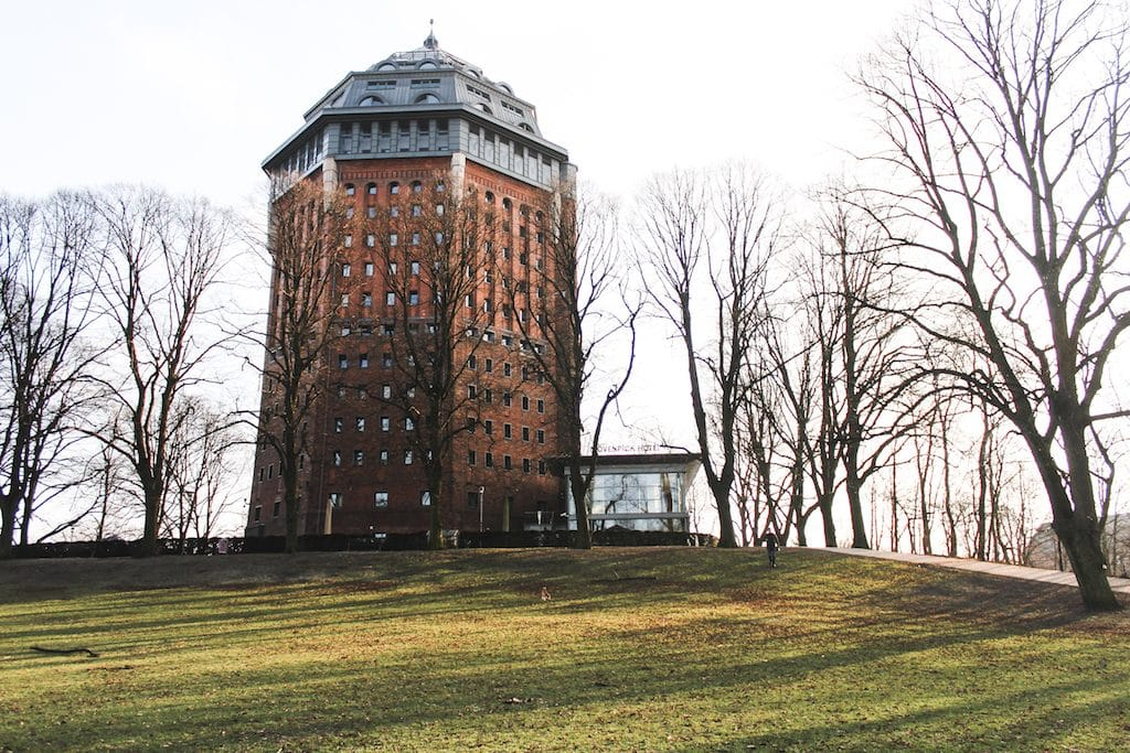 Mövenpick Hotel in Hamburg Germany in an old water tower in a park
