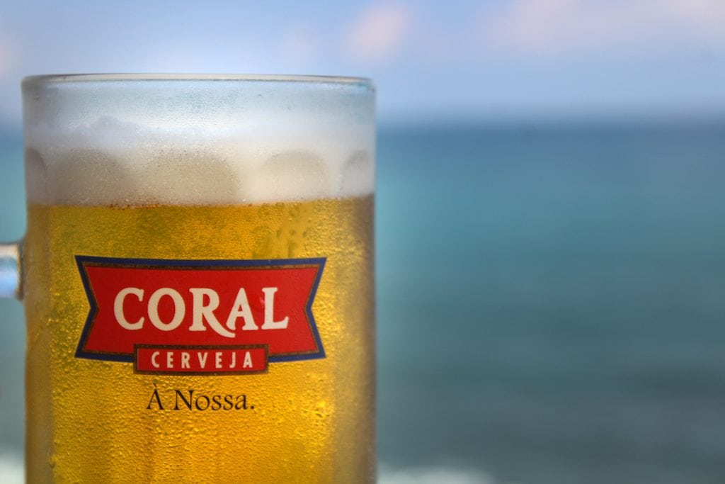 coral beer in sao vicente, madeira