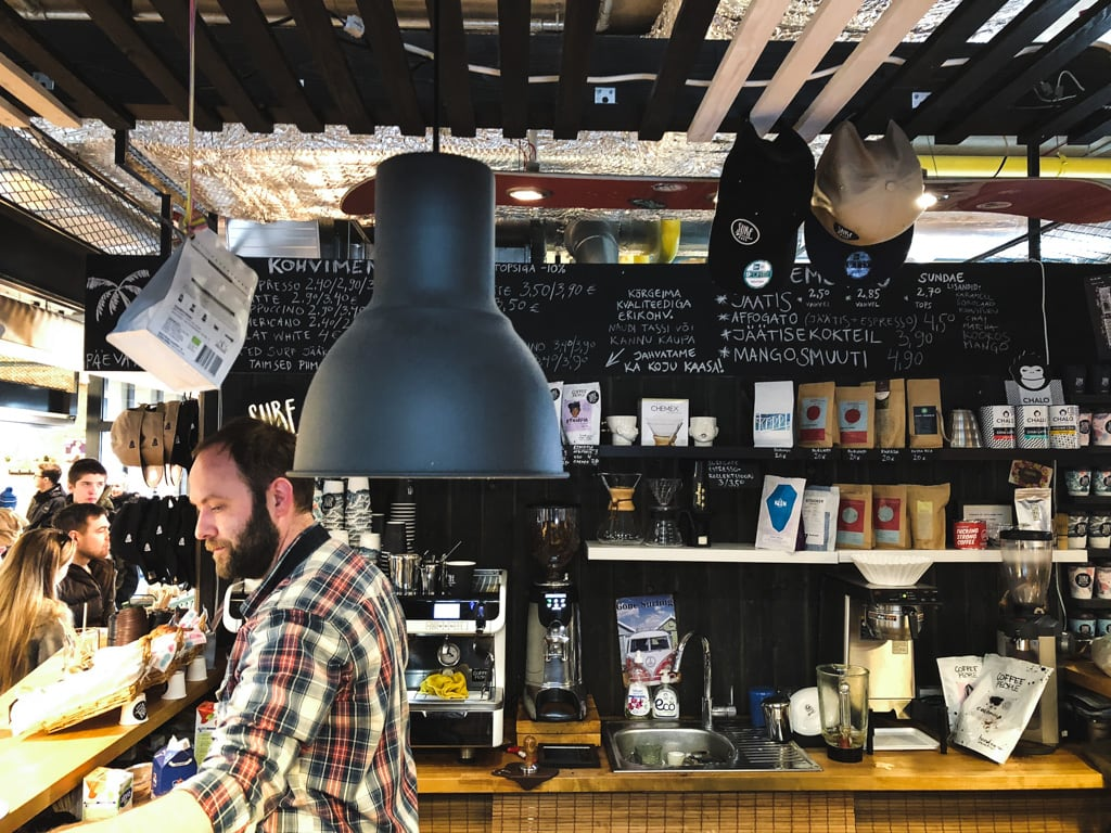 Tallinn Cafes: Where to Find The Best Coffee in Tallinn, Estonia Surf Cafe at Balti Jaama