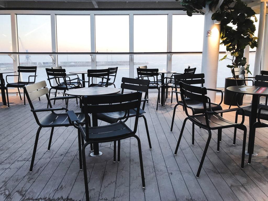 Tallinn to Helsinki Ferry: Cruising Across the Baltic Sea with Tallink Megastar deck with view