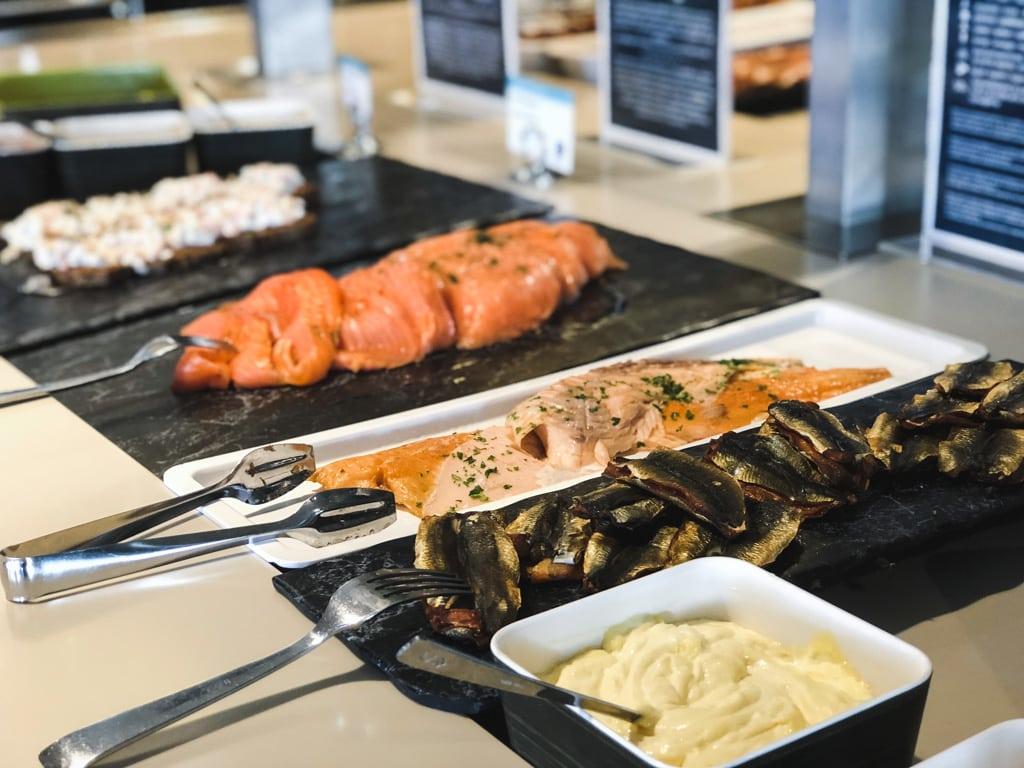 Tallinn to Helsinki Ferry: Cruising Across the Baltic Sea with Tallink Megastar food in business lounge