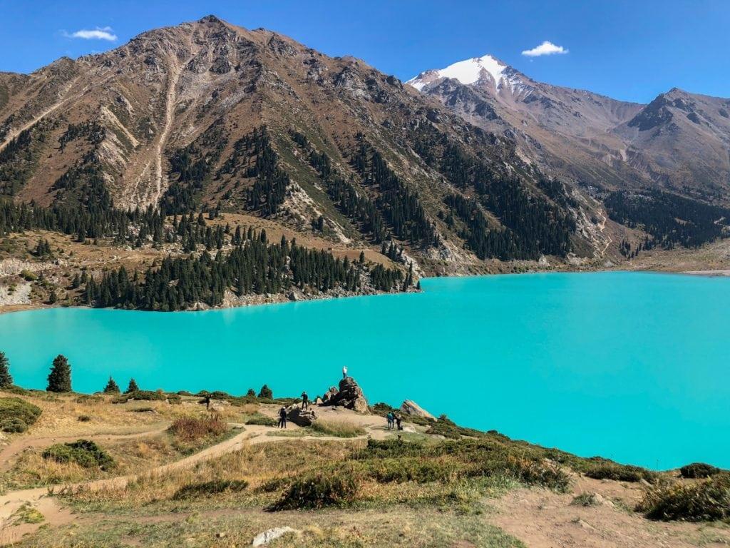 big almaty lake kazakhstan teal lake