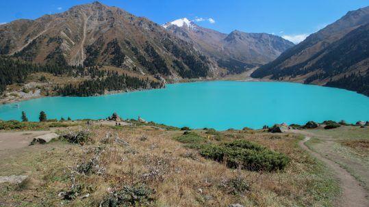 big almaty lake kazakhstans most famous lake