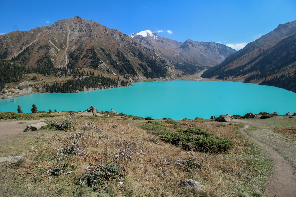 big almaty lake kazakhstans most famous lake