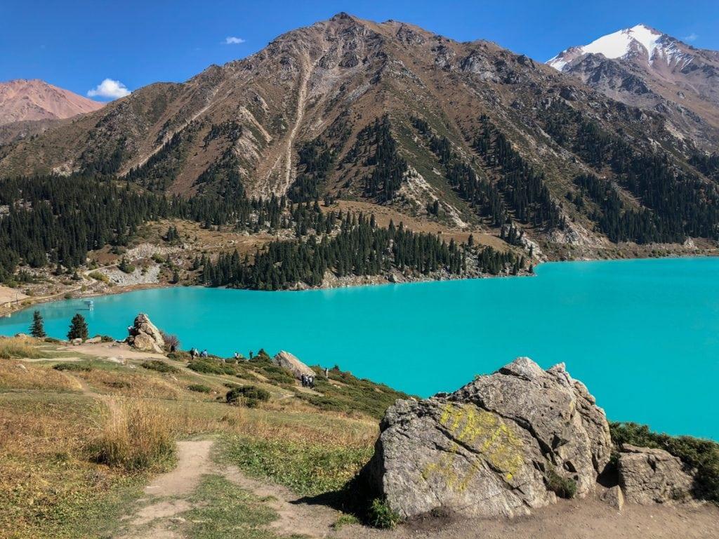 big almaty lake near almaty kazakhstan