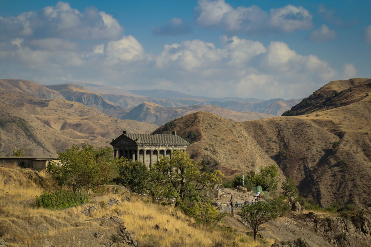 Garni temple near Yerevan, Armenia