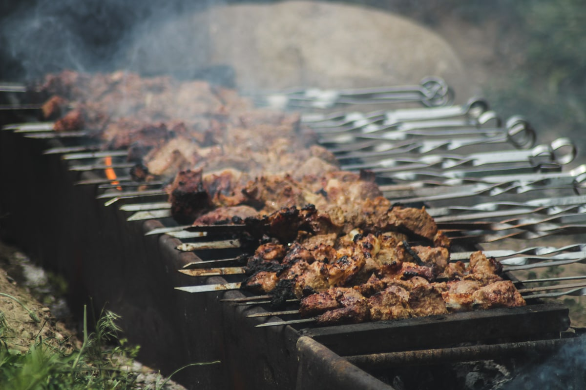Central Asia Travel Tips: 50 Things to Know and Do Before You Visit shashlik in kyrgyzstan