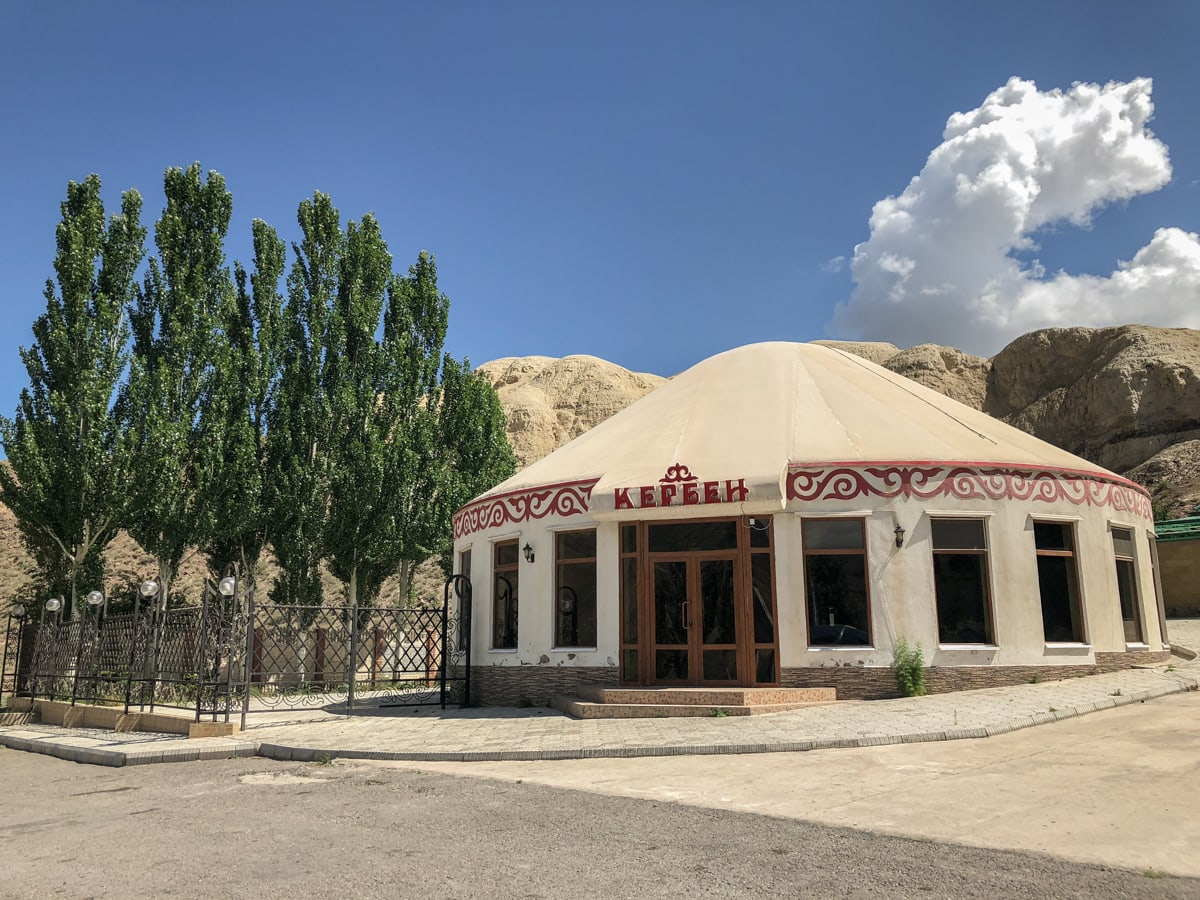 Central Asia Travel Tips: 50 Things to Know and Do Before You Visit roadside grill and shop in kyrgyzstan