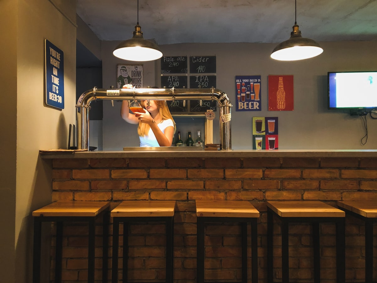 Central Asia Travel Tips: 50 Things to Know and Do Before You Visit brewster craft beer in bishkek