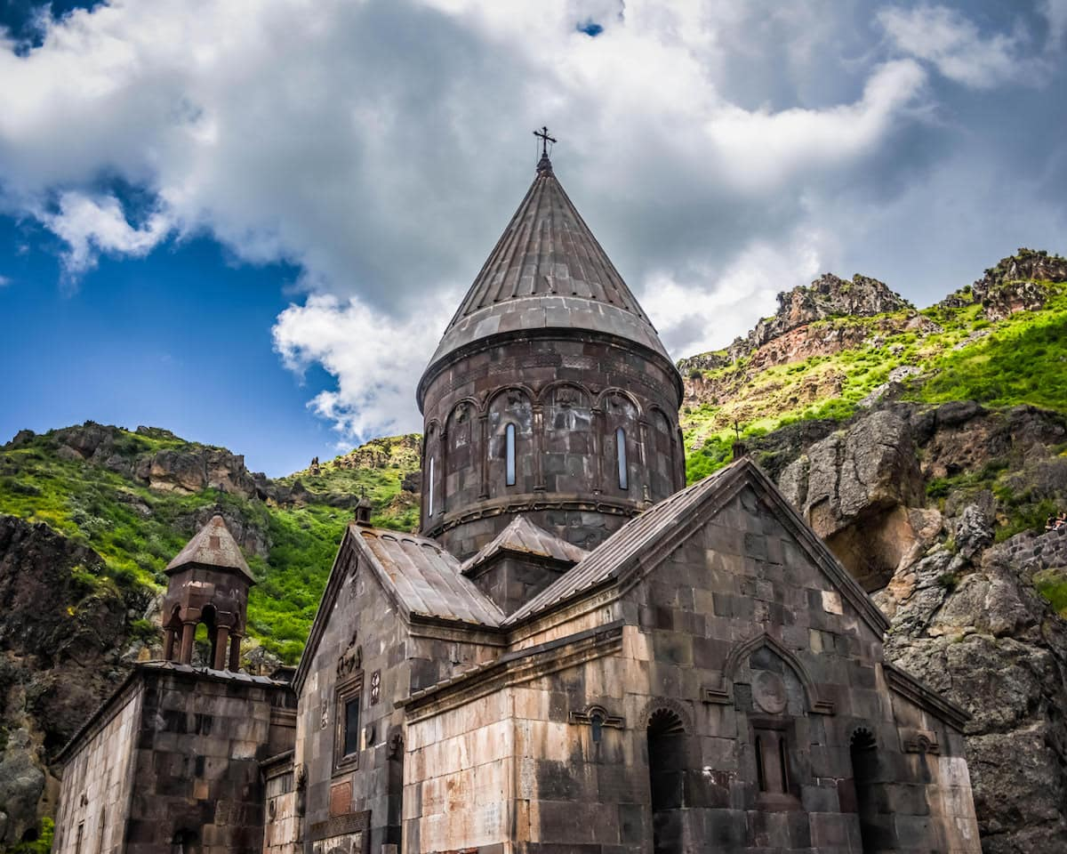 25 Amazing Places to Visit in Armenia - Geghard Monastery - Photo from Stephanie Craig from History Fangirl Travel Blog