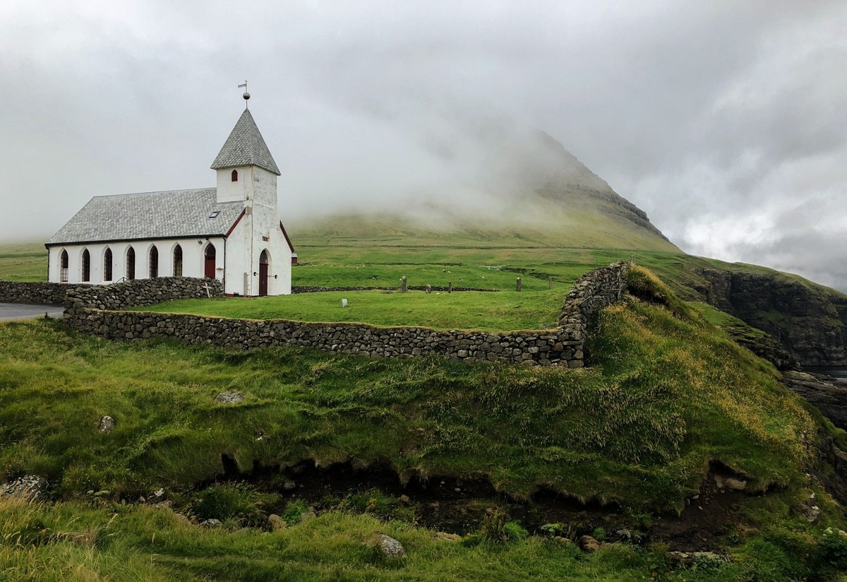 Viðareiði on Viðoy white church - Visit Faroe Islands: A Guide to the Best Views and Photography Spots