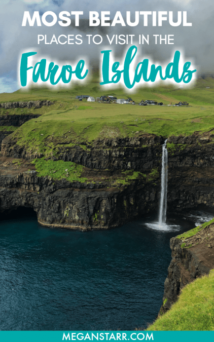 When you visit the Faroe Islands, you'll be blown away by the landscapes. This is a guide to the best places to visit in the Faroe Islands for photography. #faroeislands #kunoy #kalsoy #streymoy #waterfall #torshavn #vagar #sorvagsvatn #lake #gjogv #bordoy #vidoy #klaksvik #suduroy #cliffs #sandoy #mountain #saksun #nature #scandinavia #nordics