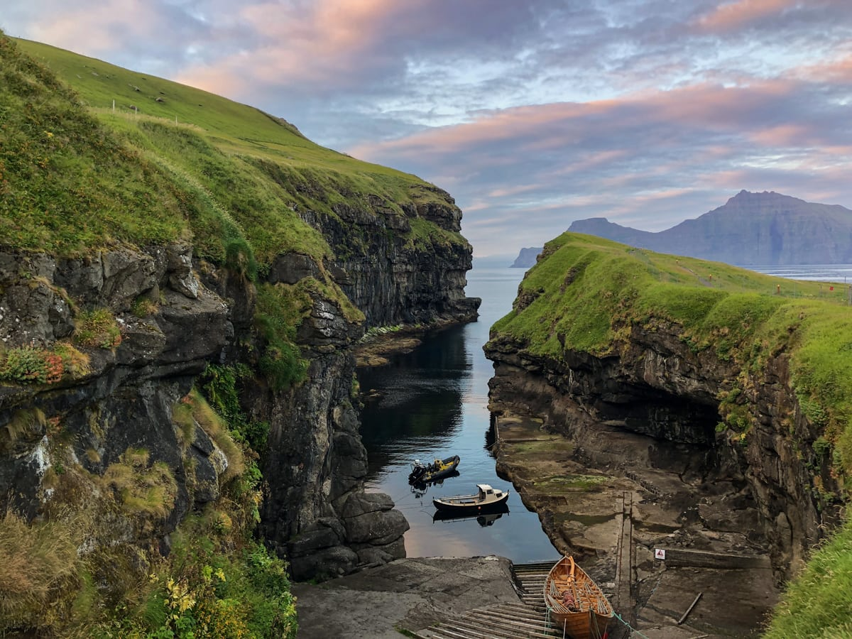 Gjogv on Eysturoy at dusk - Visit Faroe Islands: A Guide to the Best Views and Photography Spots