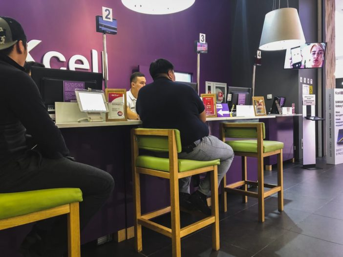 How to Get a Kazakhstan SIM Card in Almaty (Beeline and KCell) kcell at dostyk plaza