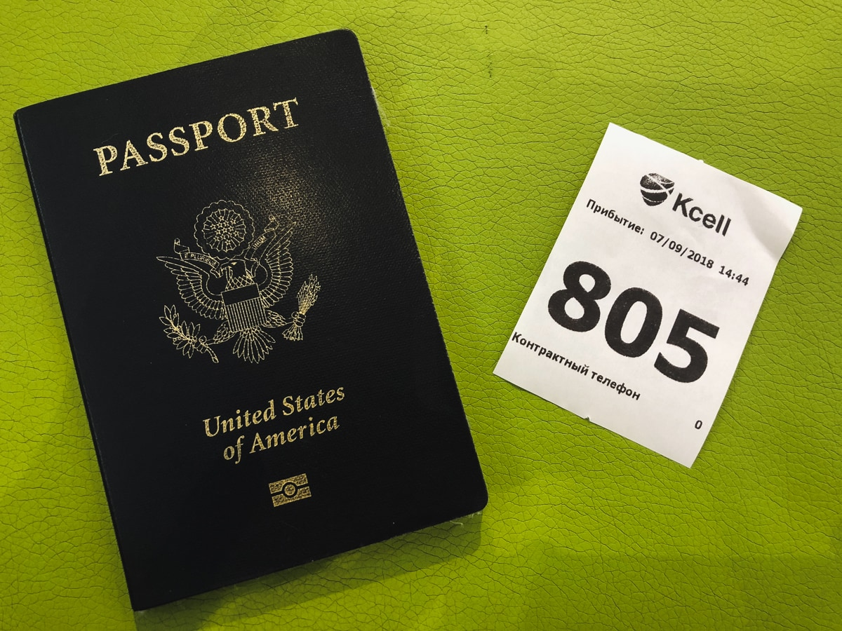 How to Get a Kazakhstan SIM Card in Almaty passport and number kcell