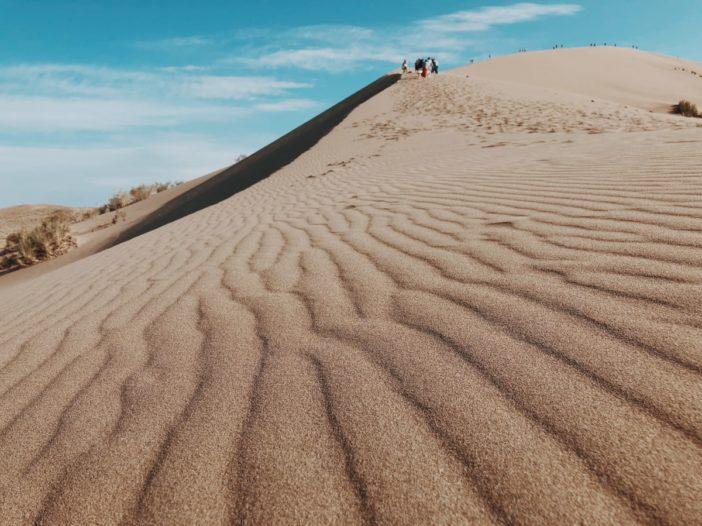 Singing Dunes Altyn Emel National Park Kazakhstan ripples in sand