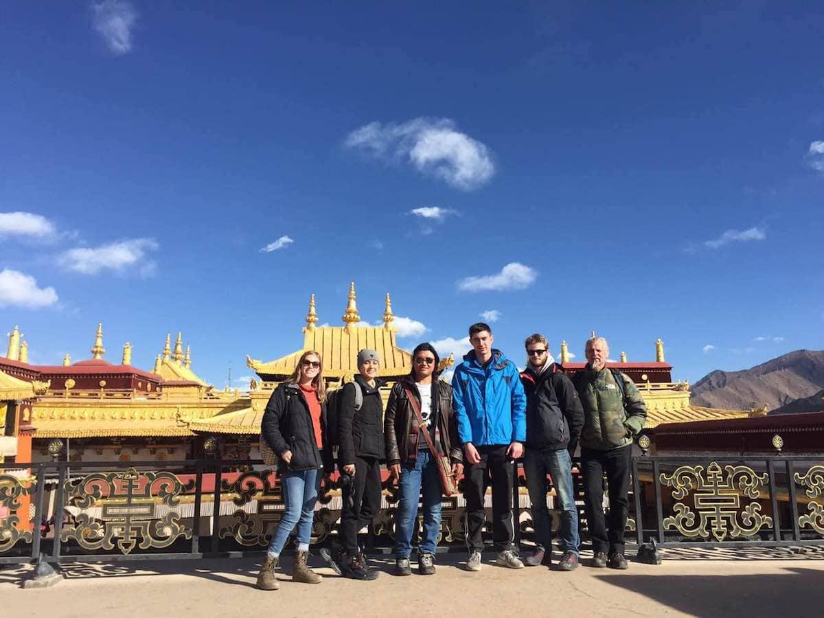 jokhang temple group photo