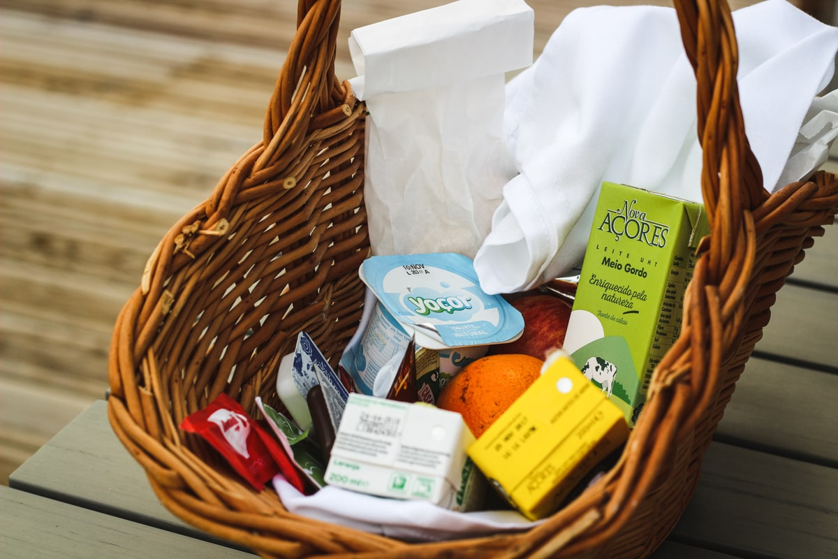 Azores produce basket from Sao Vicente Lodge