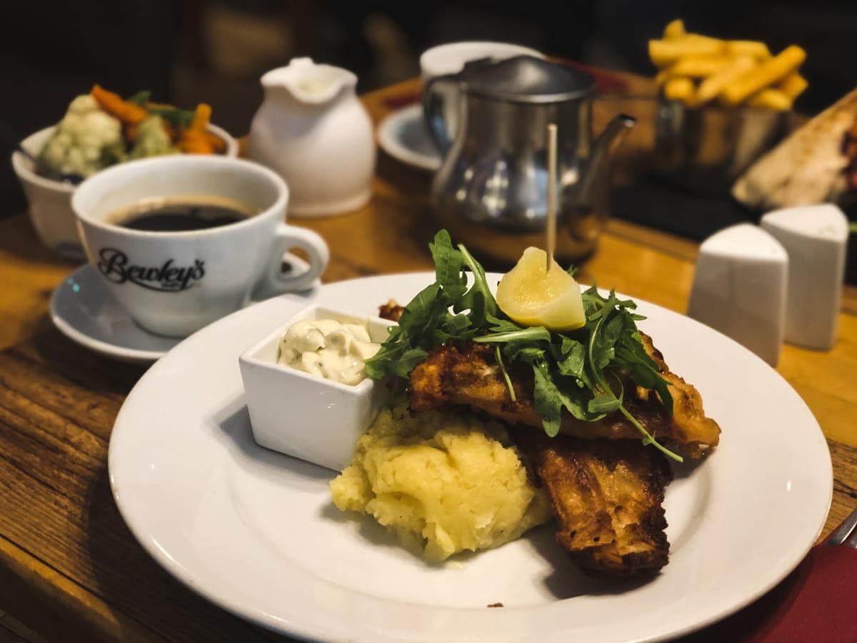 fish and chips at coach house hotel in ballymote county sligo ireland