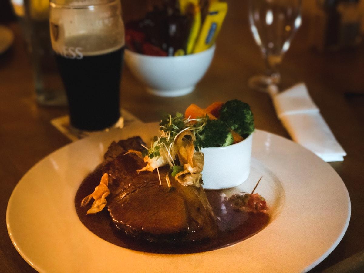 irish food at murphy's hotel in county sligo tubbercurry ireland