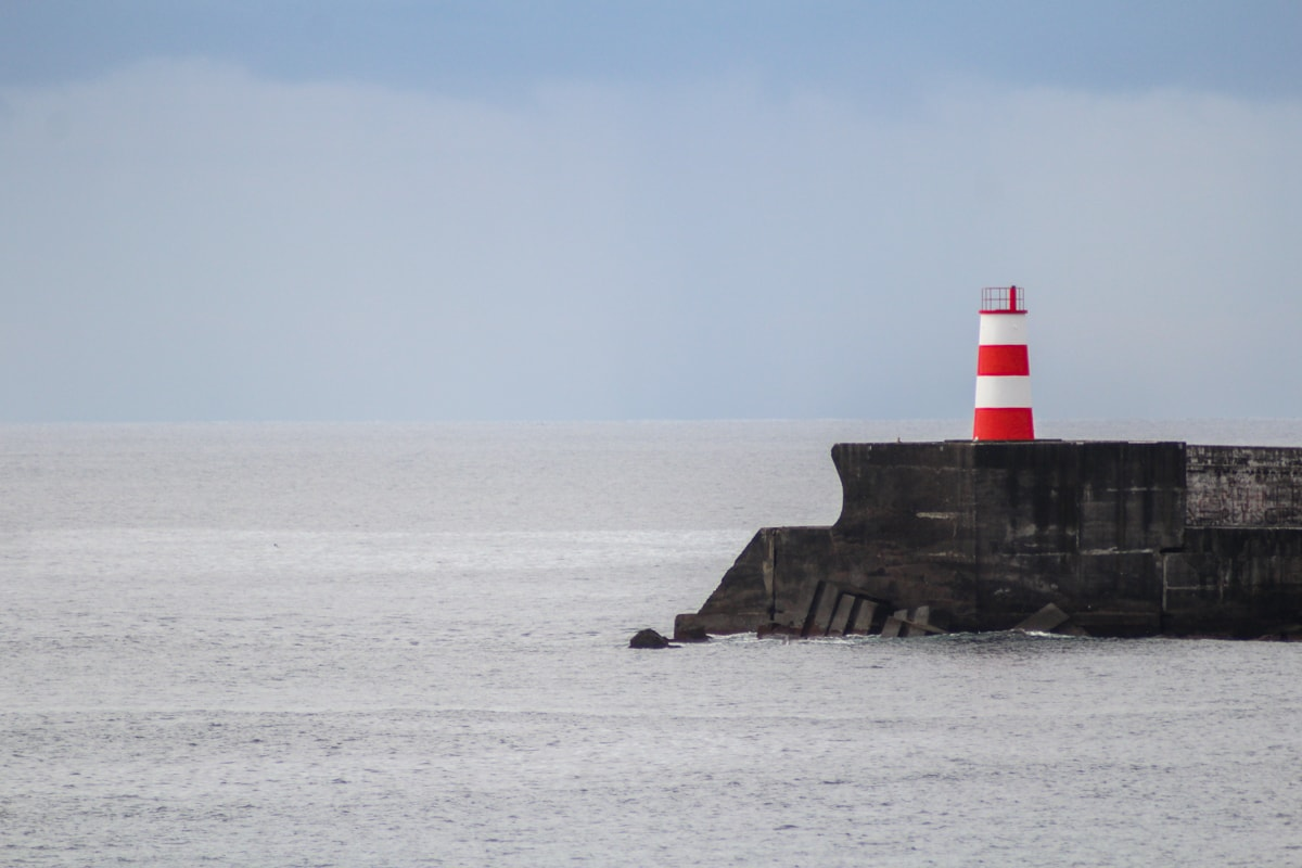 lighthouse near ponta delgada azores