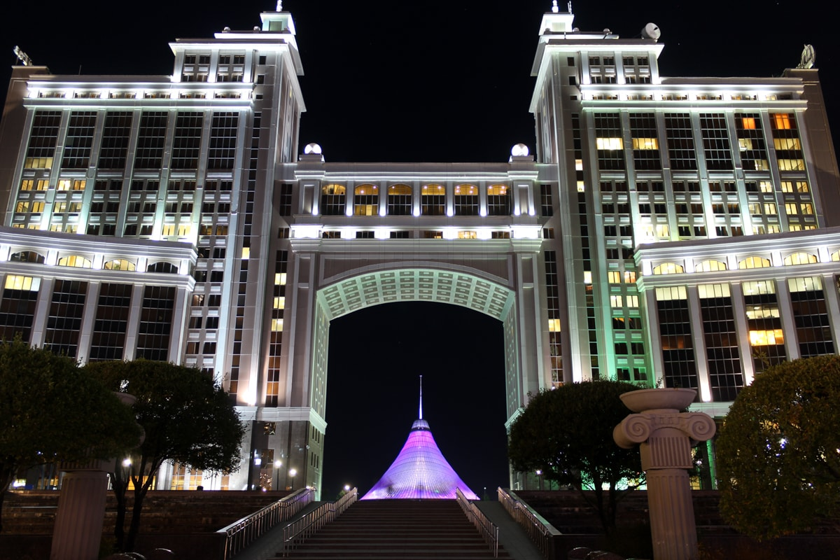 night photography in astana kazakhstan