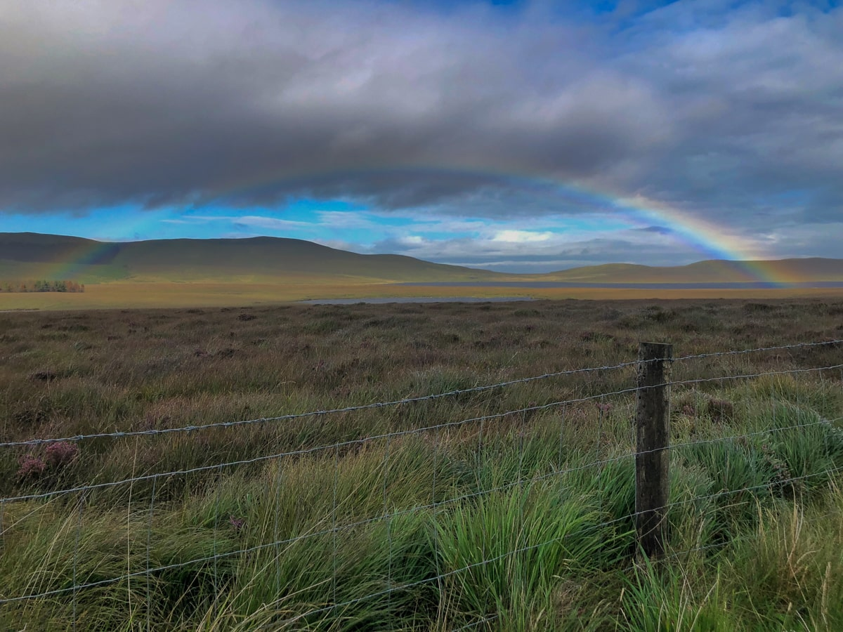 rainbow at ox mountains in ireland county sligo